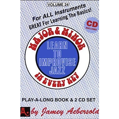 Major & Minor In Every Key (Play-a-Long / Learn to Improvise Jazz, Vol. 24) (Book & CD), New Book (9781562241803)