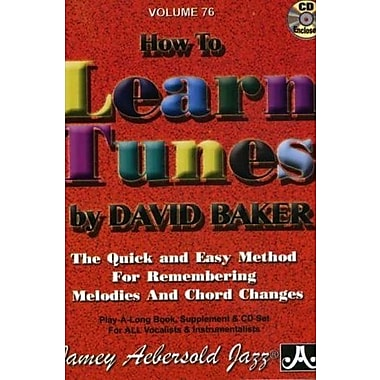 Jamey Aebersold How To Learn Tunes Play-Along Book and CD, New Book (9781562242343)