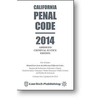 2014 Penal Code: California Abridged Used Book (9781563252143)