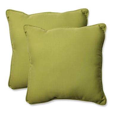 Pillow Perfect Indoor/Outdoor Throw Pillow (Set of 2); Fresco Green