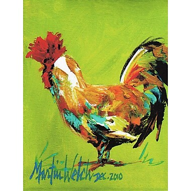 Caroline's Treasures Cockadoo Rooster 2-Sided Garden Flag