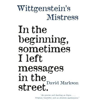 Wittgenstein's Mistress, New Book (9781564782113)