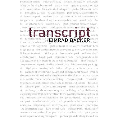 transcript (Austrian Literature Series), New Book (9781564785657)