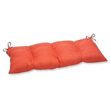 Pillow Perfect Outdoor Loveseat Cushion; Coral