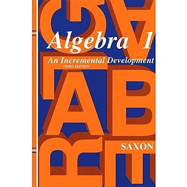 Saxon Algebra 1: Solutions Manual Third Edition 1998, Used Book (9781565771376)