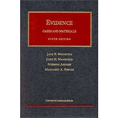 Weinstein, Mansfield, Abrams and Berger's Evidence (9781566624749)