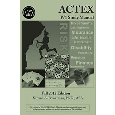 ACTEX P/1 Study Manual - 2012 Edition (9781566988940)