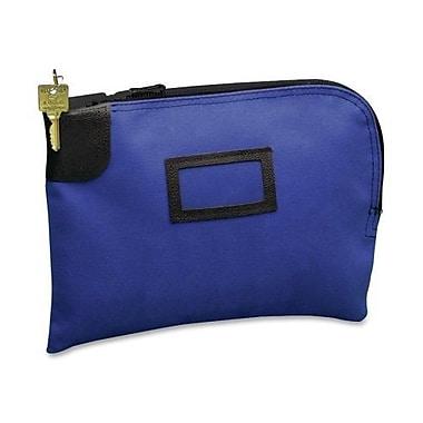 PM COMPANY Night Deposit Zipper Bag w/Lock, Army Duck Material, 12 x 9, Blue