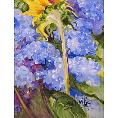 Caroline's Treasures Hydrangea and Sunflower 2-Sided Garden Flag