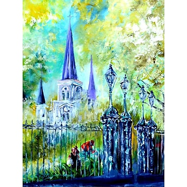 Caroline's Treasures Across the Square St Louis Cathedral 2-Sided Garden Flag