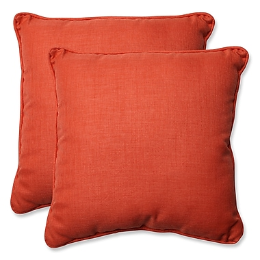 Pillow Perfect Indoor/Outdoor Throw Pillow (Set of 2); Coral