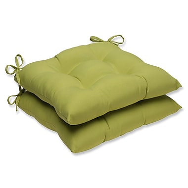 Pillow Perfect Outdoor Dining Chair Cushion (Set of 2); Fresco Green