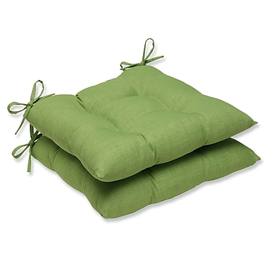 Pillow Perfect Outdoor Dining Chair Cushion (Set of 2); Crisp Green