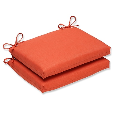 Pillow Perfect Outdoor Dining Chair Cushion (Set of 2); Coral