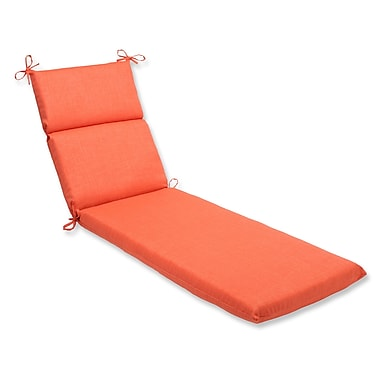 Pillow Perfect Outdoor Chaise Lounge Cushion; Coral