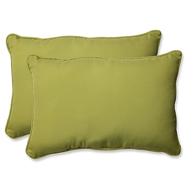 Pillow Perfect Fresco Pear Indoor/Outdoor Throw Pillow (Set of 2); 16.5'' H X 24.5'' W X 5'' D