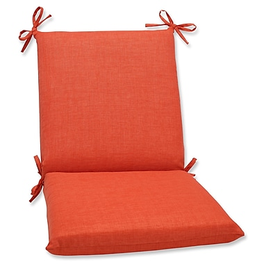 Pillow Perfect Outdoor Lounge Chair Cushion; Coral