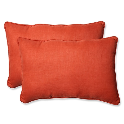 Pillow Perfect Rave Coral Indoor/Outdoor Throw Pillow (Set of 2); 16.5'' H X 24.5'' W X 5'' D