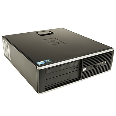 HP – PC 6200 SFF remis à neuf Intel Core i3-2100 (3,1 GHz), RAM 4 Go, DD 500 Go, DVDRW, Windows 10 Pro