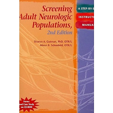 Screening Adult Neurologic Populations: A Step-by-Step Instruction Manual, 2nd Edition, New Book (9781569002575)
