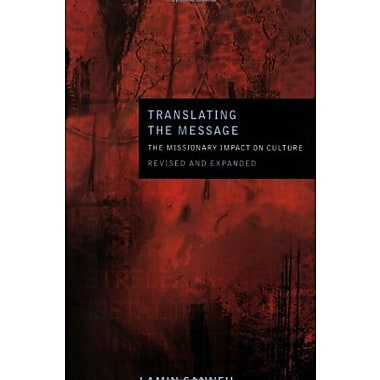 Translating the Message: The Missionary Impact on Culture (American Society of Missiology), New Book (9781570758041)