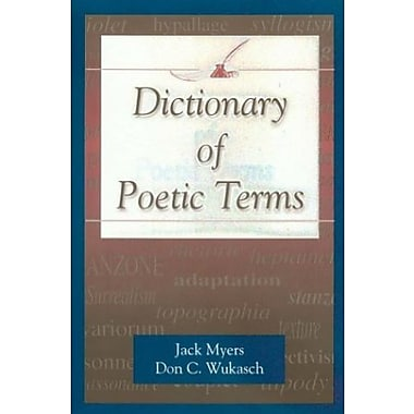 Dictionary of Poetic Terms, Used Book (9781574411669)