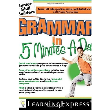 Grammar in 15 Minutes a Day: Junior Skill Buider Used Book (9781576856628)
