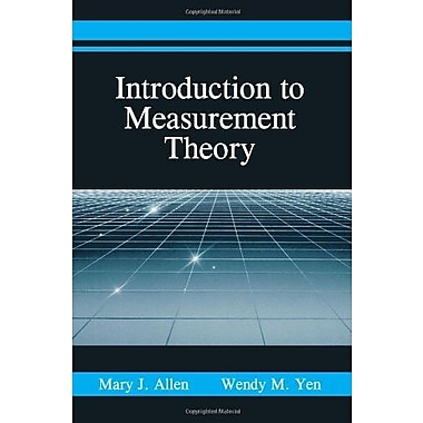 Introduction to Measurement Theory, Used Book (9781577662303)
