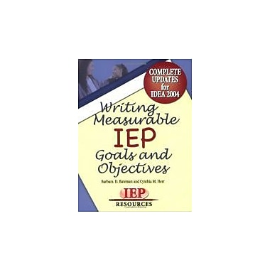 Writing Measurable IEP Goals and Objectives, Used Book (9781578611492)