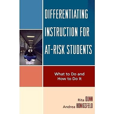 Differentiating Instruction for At-Risk Students: What to Do and How to Do It, Used Book (9781578869831)