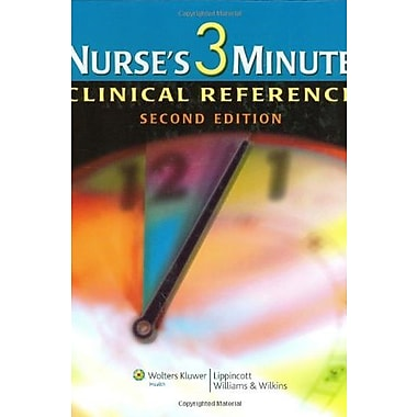 Nurse's 3-Minute Clinical Reference, Used Book (9781582556703)