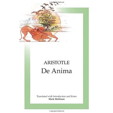 De Anima: On the Soul, Used Book (9781585102488)