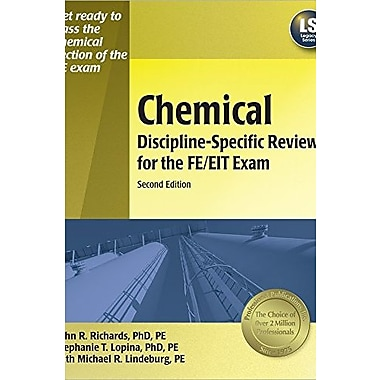 Chemical Discipline-Specific Review for the FE/EIT Exam, 2nd ed., Used Book (9781591260677)