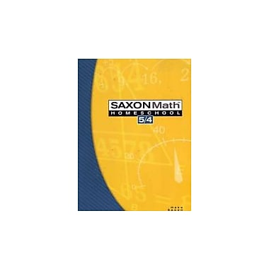 Saxon Math 5/4, 3rd Edition Home school Student Edition., Used Book (9781591413172)