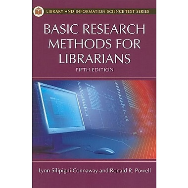 Basic Research Methods for Librarians, Used Book (9781591588658)