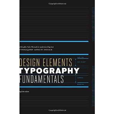 Design Elements, Typography Fundamentals: A Graphic Style Manual for Understanding How Typography Affects Design, Used Book