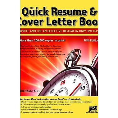 Quick Resume & Cover Letter Book: Write and Use an Effective Resume in Just One Day Used Book (9781593578565)