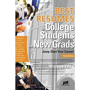 Best Resumes for College Students and New Grads: Jump-Start Your Career!, 3rd Ed Used Book (9781593578879)