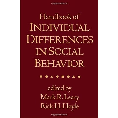 Handbook of Individual Differences in Social Behavior, Used Book (9781593856472)