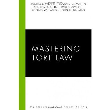 Mastering Tort Law, Used Book (9781594605697)