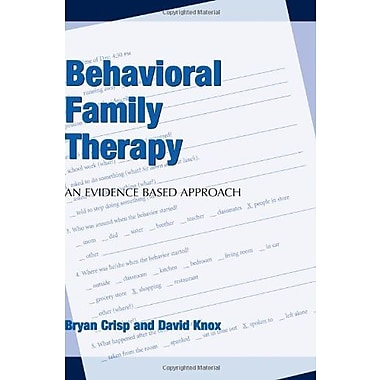 Behavioral Family Therapy, Used Book (9781594606274)