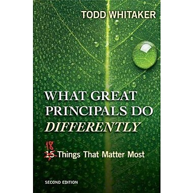 What Great Principals Do Differently: Eighteen Things That Matter Most, Used Book (9781596672000)
