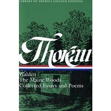 Thoreau: Walden, Maine Woods, Essays, & Poems (Library of America College Editions), New Book (9781598530100)