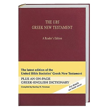 The UBS Greek New Testament: A Reader's Edition (Greek and English Edition), New Book (9781598562859)