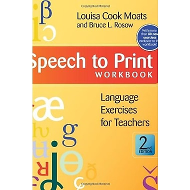 Speech to Print Workbook: Language Exercises for Teachers, Second Edition, New Book (9781598571622)
