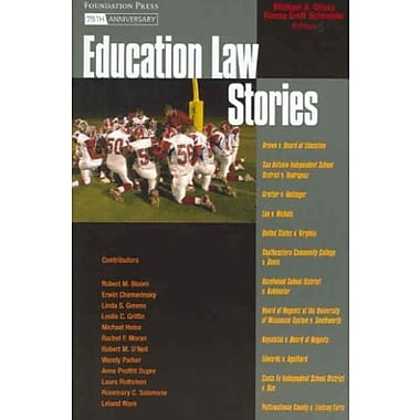 Olivas and Schneider's Education Law Stories (Stories Series), New Book (9781599410326)