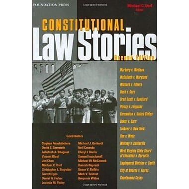 Dorf's Constitutional Law Stories, 2d (Stories Series), New Book (9781599411699)