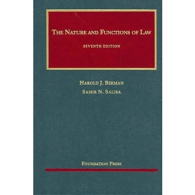 Berman and Saliba's The Nature and Functions of Law, 7th (9781599413372)