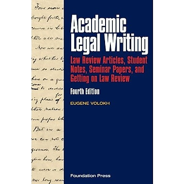 Volokh's Academic Legal Writing, New Book (9781599417509)
