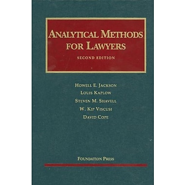 Jackson, Kaplow, Shavell, Viscusi, and Cope, Analytical Methods for Lawyers, 2d (9781599419213)